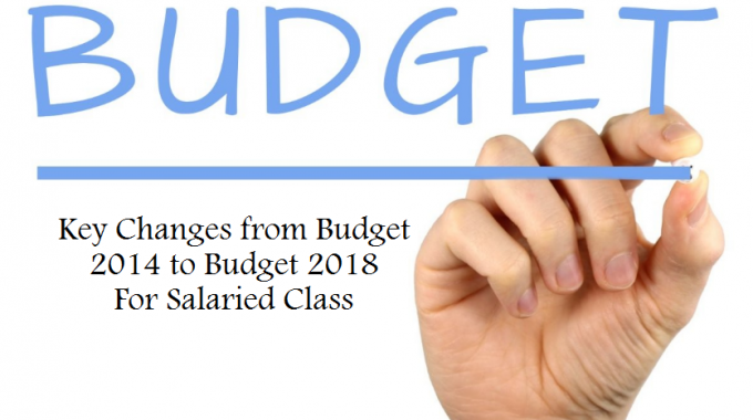 What Has Changed From Budget 2014 to Budget 2018 for a Salaried Person in India?