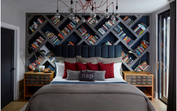 How To Design a Bedroom with Bookshelves ?