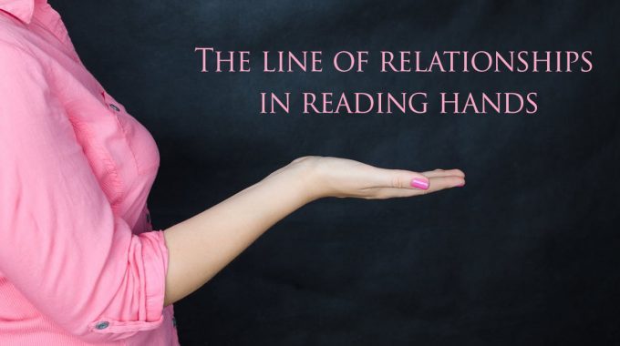 The line of relationships in reading hands